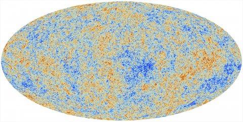 Temperaturverteilung der kosmischen Hintergrundstrahlung (PLANCK-Kollaboration, ESA)